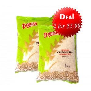 2 Danish- Chinigura Rice for $5.99